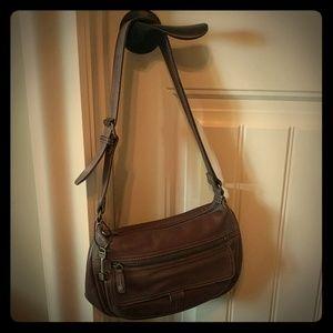 Vintage Leather Fossil Bag